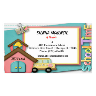 School Bus Pack Of Standard Business Cards