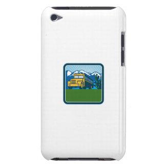 School Bus Cactus Mountains Square Retro iPod Case-Mate Cases