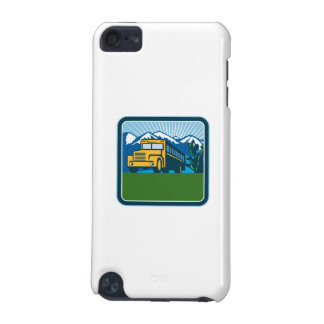 School Bus Cactus Mountains Square Retro iPod Touch 5G Covers
