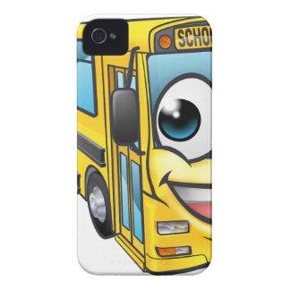 School Bus Cartoon Character Mascot iPhone 4 Case-Mate Cases