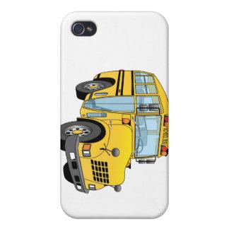 School Bus Cartoon iPhone 4/4S Cases
