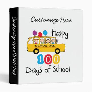 School Bus Celebrate 100 Days Binders