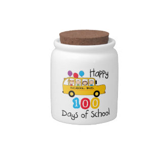 School Bus Celebrate 100 Days Candy Dish