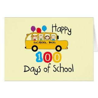 School Bus Celebrate 100 Days Card