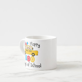 School Bus Celebrate 100 Days Espresso Mug