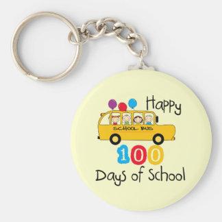 School Bus Celebrate 100 Days Key Chain
