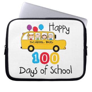 School Bus Celebrate 100 Days Computer Sleeves