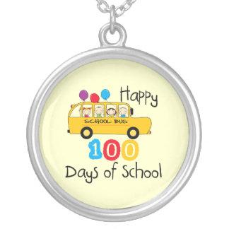 School Bus Celebrate 100 Days Pendants
