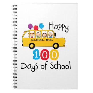 School Bus Celebrate 100 Days Notebooks