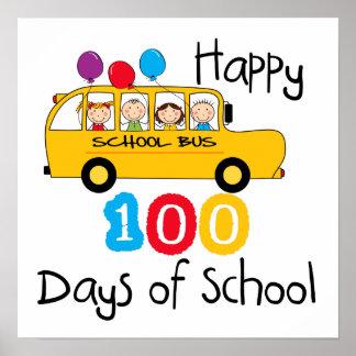 School Bus Celebrate 100 Days Poster