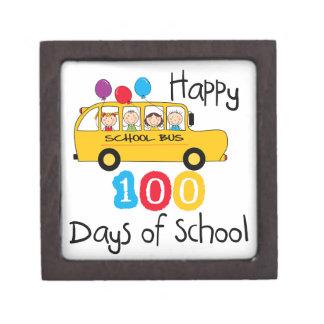 School Bus Celebrate 100 Days Premium Jewelry Boxes
