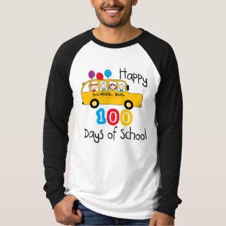 School Bus Celebrate 100 Days Shirt