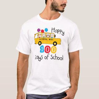 School Bus Celebrate 100 Days T-Shirt