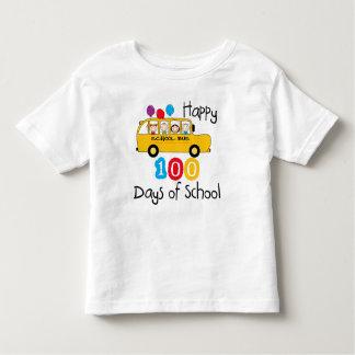 School Bus Celebrate 100 Days Toddler T-shirt