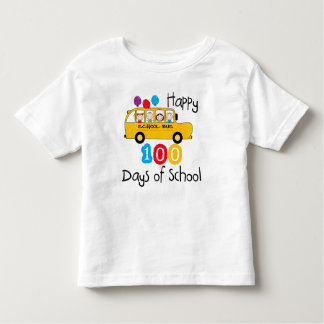 School Bus Celebrate 100 Days Tshirt