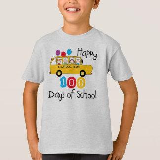 School Bus Celebrate 100 Days Tshirts