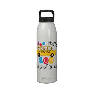 School Bus Celebrate 100 Days Drinking Bottles
