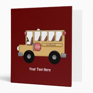 School Bus (Customizable) Vinyl Binder