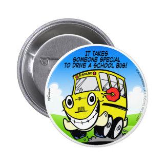 School Bus Driver 2 Inch Round Button