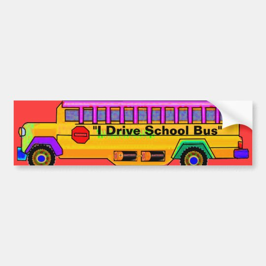 """School Bus Driver"" Bumper Sticker"
