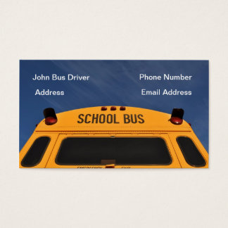 School Bus Driver Business Card