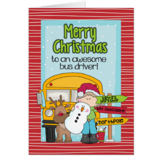 School Bus Driver Christmas Card