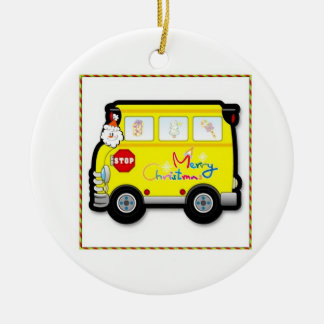 School Bus Driver Christmas Ornament