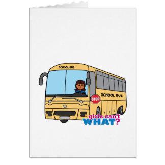 School Bus Driver Dark Greeting Card