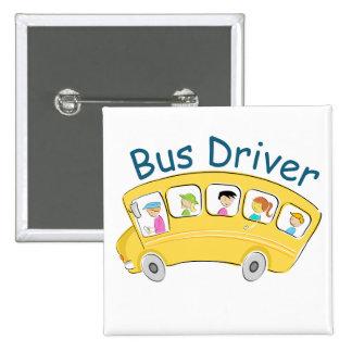School Bus Driver - Female 2 Inch Square Button