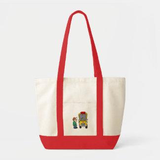 School Bus Driver Gift Idea School Theme Tote Bag
