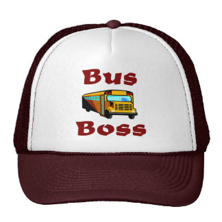 School Bus Driver Hat.  Bus Boss. Trucker Hat