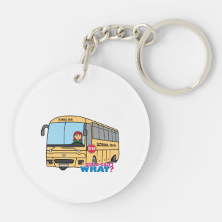 School Bus Driver Double-Sided Round Acrylic Keychain