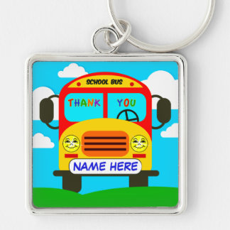 School Bus Driver Keychain with NAME or YOUR TEXT