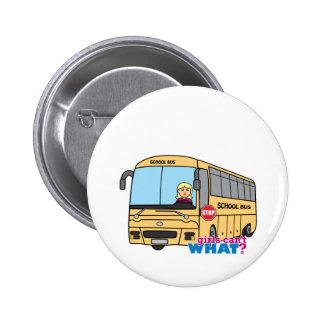 School Bus Driver Light/Blonde Pinback Buttons