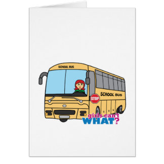 School Bus Driver Light/Red Greeting Card