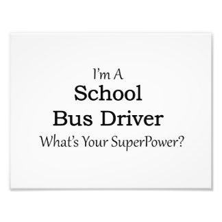 School Bus Driver Photo Print