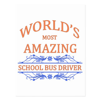 School Bus Driver Postcard