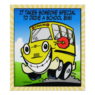 School Bus Driver Poster