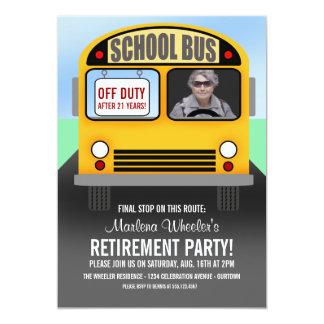 School Bus Driver Retirement Party Invitations