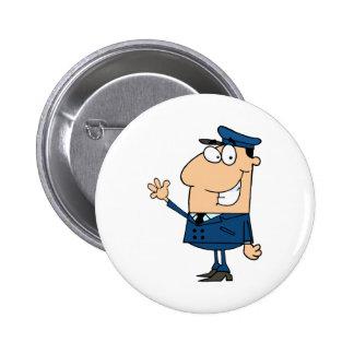 School Bus Driver School Waving Button