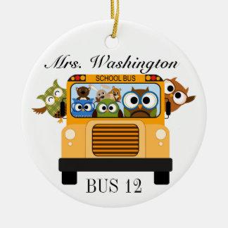 School Bus Driver - SRF Round Ceramic Ornament
