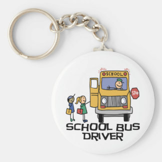 School Bus Driver T-shirts and Gifts. Basic Round Button Keychain