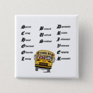 School bus driver, thumbnailCA56F3F0clip art 2 Inch Square Button