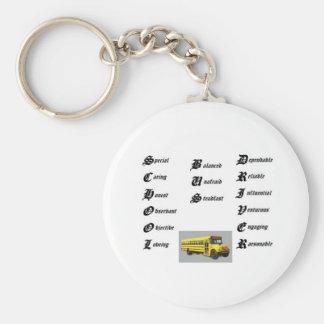 School bus driver, thumbnailCAI0UE1U Keychain
