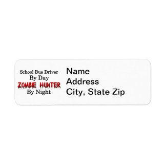 School Bus Driver Zombie Hunter Custom Return Address Labels