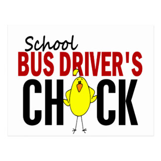 School Bus Driver's Chick Postcard