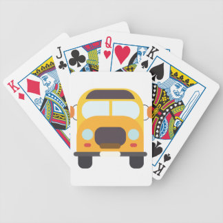 School Bus Front Bicycle Playing Cards