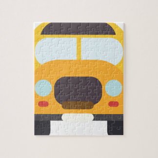 School Bus Front Jigsaw Puzzle