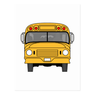 School Bus Front Postcard