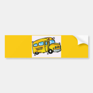SCHOOL BUS GRAPHIC BACK ELEMENTARY GRADES LEARNING BUMPER STICKER